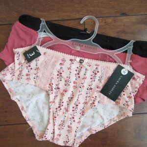 NWT Laura Ashley 3 Pair Panties Underwear M